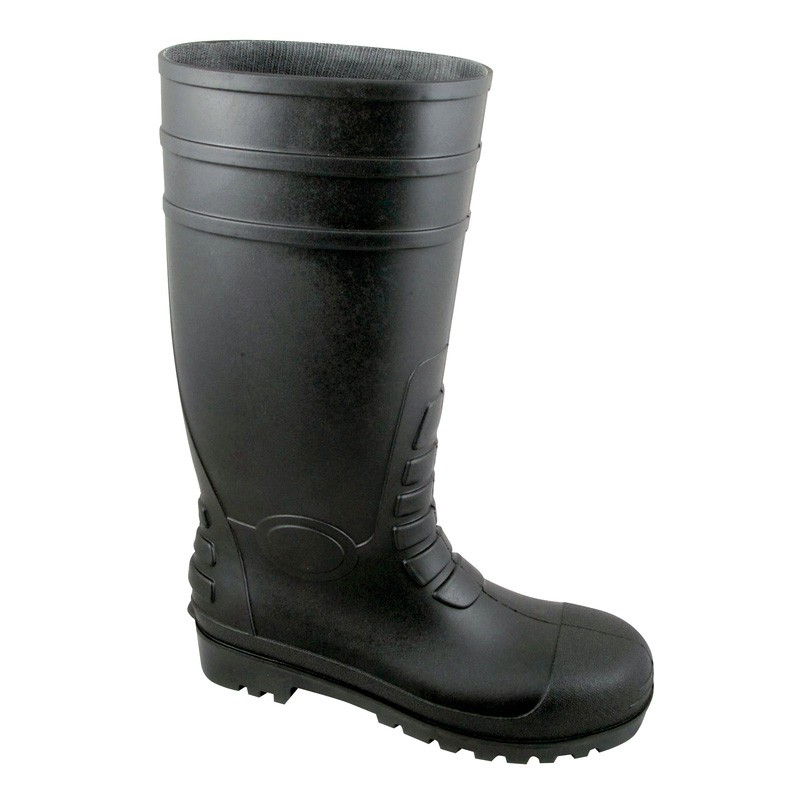 Black Non-Safety Wellington Boots - Available In Sizes 4 - 12