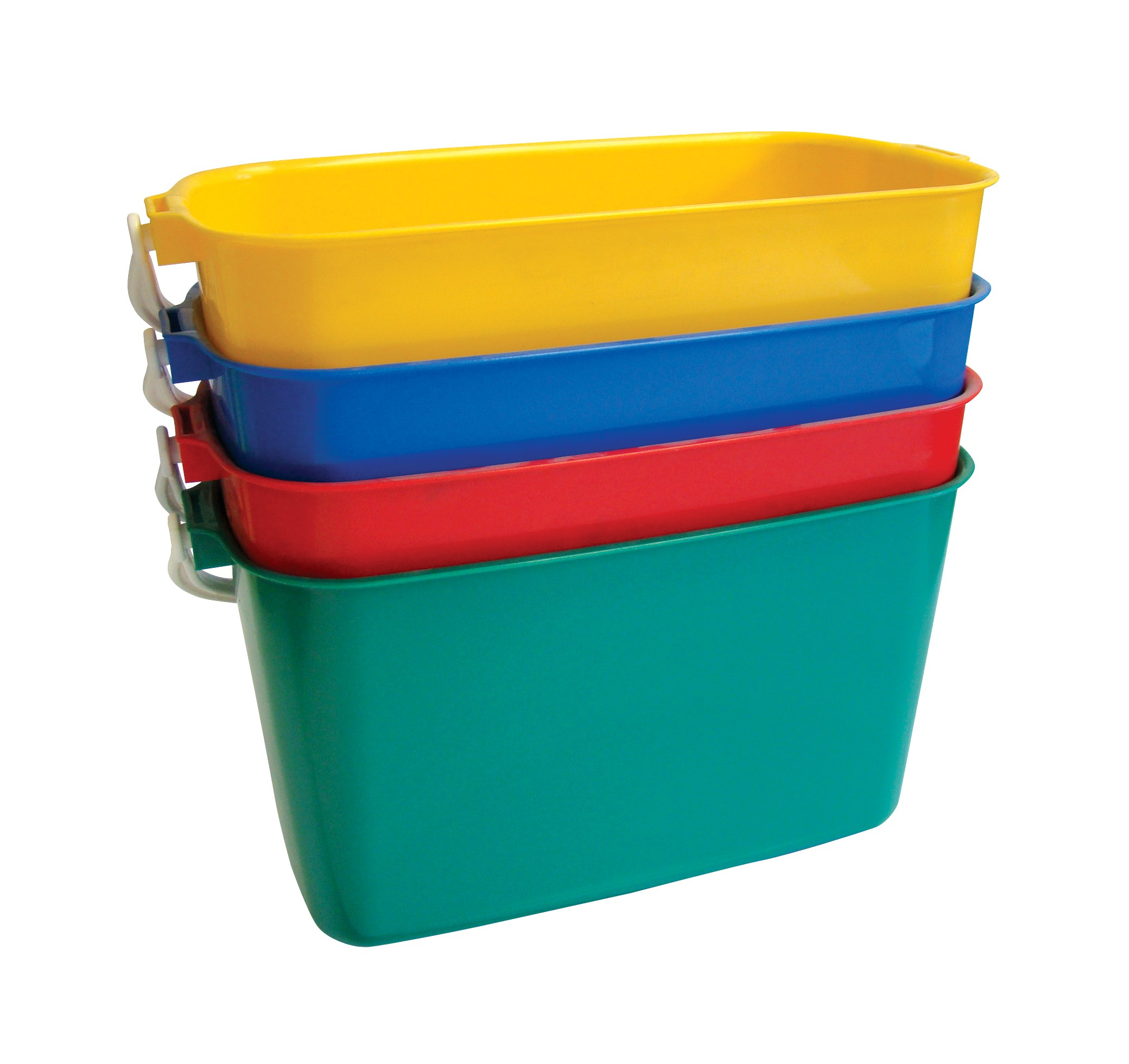 9ltr Rectangular Colour Coded Buckets
