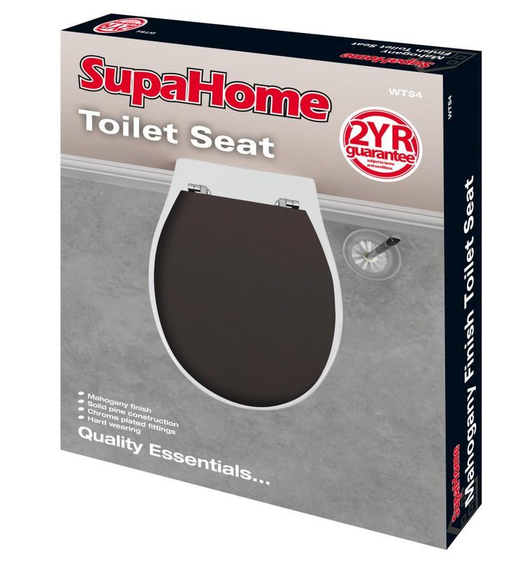 SupaHome Mahogany Wooden Toilet Seat