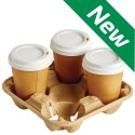 Cup Carry Tray for 4 Takeaway Cups (Case of 180)
