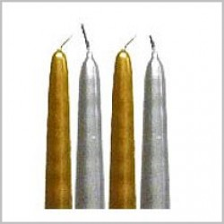 "20cm (8"") Metallic Non-Drip Wax Candles"