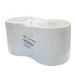 Airlaid 1ply 500 Sheet White Wiper Roll - Case of 2