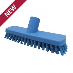 215mm Hillbrush Foodservice Stiff Deck Scrub (5 Colours)