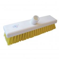 Hillbrush Stiff Deck Scrub Brush Yellow Fill B759Y