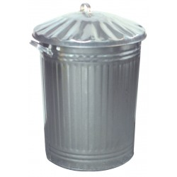 Galvanised Dustbin with Lid