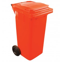 120ltr Red Two Wheel Wheelie Bin