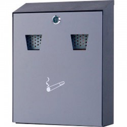 SSCB2 Steel Wall Mounted Ashtray Cigarette Disposal Bin