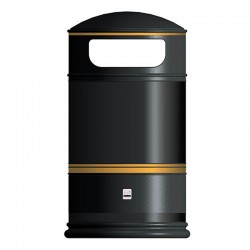 Heritage Round Hooded Outdoor Litter Bin