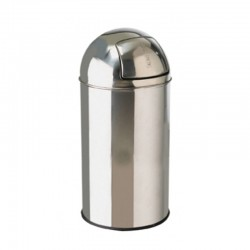 40ltr Stainless Steel Bullet Push Litter Bin