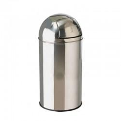 40ltr Stainless Steel Bullet Push Litter Bin