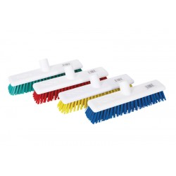 "30cm / 12"" Stiff Head Hygiene Brush Head - Available In Blue, Green, Red and Yellow"