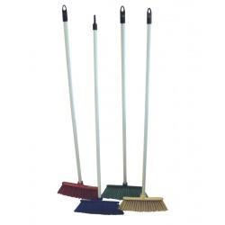 "30cm (12"") Deluxe Stiff Plastic Brush and Handle - Colour Coded"