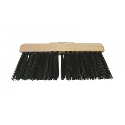 "33cm (13"") PVC Bristle Wooden Yard Brush Head"