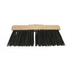 "33cm (13"") PVC Bristle Wooden Yard Brush Head"