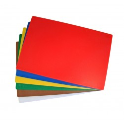 """450x600mm (18x24"""") Plastic Chopping Board - Colour Coded"""
