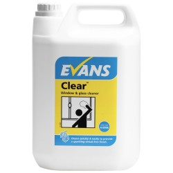 Evans Vanodine Clear Window Cleaner 5ltr