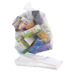 "Standard Duty Clear Refuse Sacks 457x735x990mm (18x29x39"") - Box of 200"