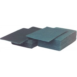 """23x15cm (9x6"""") Heavy Duty Green Scouring Hand Pads - Case of 50"""