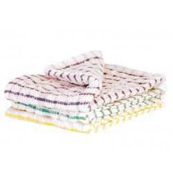 "45x68cm (18x27"") Check Terry Tea Towels - 10 per Pack"