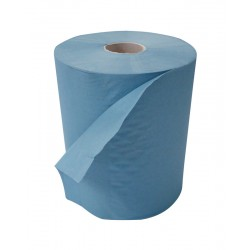 Blue 150m 1Ply 20cm Rollamatic Roll - 6 Rolls per Case