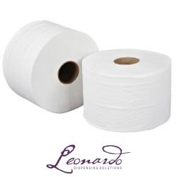 RTW175 175m 2 Ply White Leonardo Roll Towel - 6 Rolls per Case