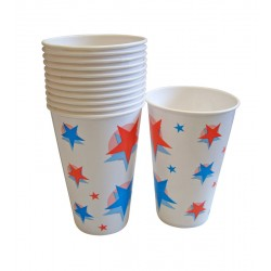 12oz Printed Waxed Paper Cold Drink Cups - Case of 2000