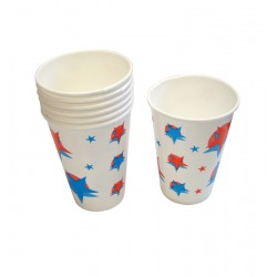 16oz Printed Waxed Paper Cold Drink Cups - Case of 1000