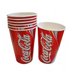 16oz Printed Coca Cola Cold Drink Cups - Case of 1000