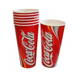 22oz Printed Coca Cola Cold Drink Cups - Case of 1000