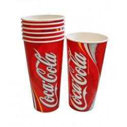 22oz Printed Coca Cola Cold Drink Cups - Case of 1000