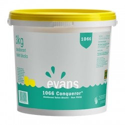 Evans Vanodine 1066 Non-PDCB Yellow Deodorant Blocks - 3kg Tub