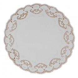 """32cm (12.5"""") Round Lace Paper Doilies - 1000 per Case"""
