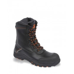 V12 Defiant Black High Leg Zip Sided Safety Boot - Available In Sizes 3-13