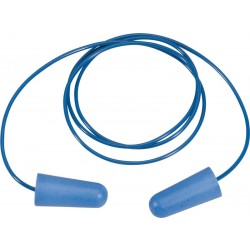 Delta Plus CONICDE06 Blue Metal Detectable PU Ear Plugs - Pack of 6
