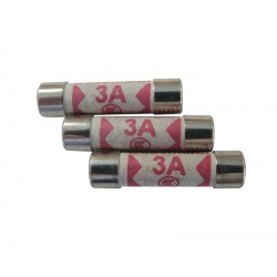 3 Amp Plug Top Fuses - Pack of 10