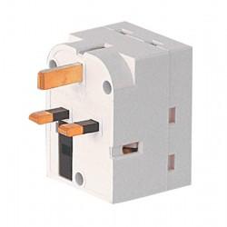 3 Way 13 Amp White Plug Adaptor