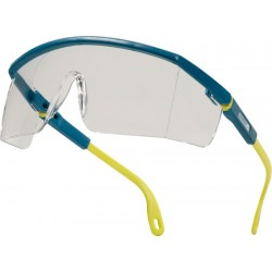 Delta Plus Kilimandjaro Clear Blue and Yellow Polycarbonate Safety Glasses