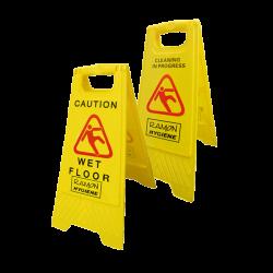 Plastic Folding Caution Wet Floor Sign