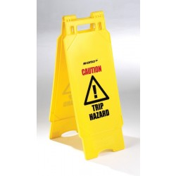 Plastic Folding Caution Trip Hazard Sign