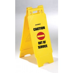 Plastic Folding Out of Service Sign