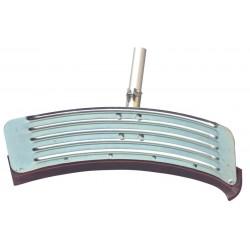 "85cm (34"") Curved Single Blade Galvanised Floor Squeegee and Handle"