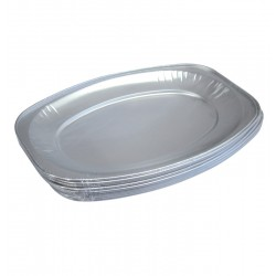 Oval Foil Small Platters - 10 per Pack