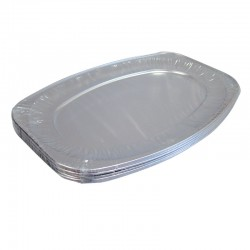 Oval Foil Large Platters - 10 per Pack