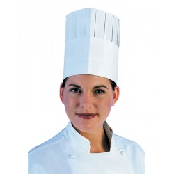 "180mm (7"") Pleated Paper Commis Chefs Hats - 50 per Case"