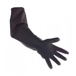 Black Heavy Duty Elbow Length Rubber Gauntlets