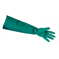 Heavy Duty Green Elbow Length Nitrile Gauntlets
