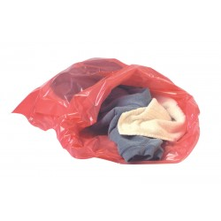 Dissolving Strip Red Laundry Sack - 200 per Case