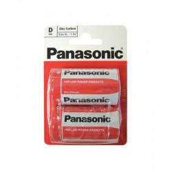 Panasonic Type D 1.5v Batteries - Pack of 2