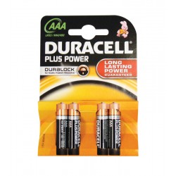 Duracell Plus MN2400 AAA 1.5v Batteries - Pack of 4