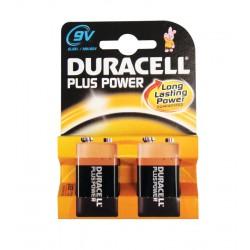 Duracell Plus MN1604 PP3 9v Batteries - Pack of 2